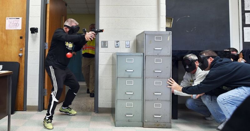 Teachers Fired At With Pellet Guns During Active-Shooter