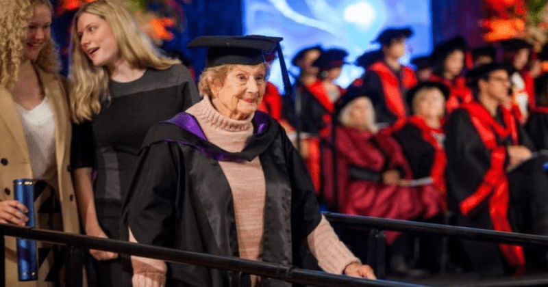 90-Year-Old Woman Graduates With A Master's Degree: