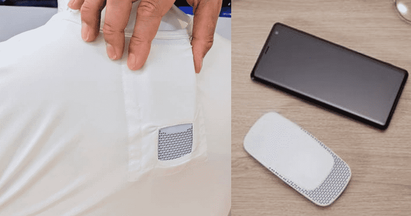 This Wearable Air Conditioner Fits Inside Your Shirt, Keeping You Cool During Hot Days