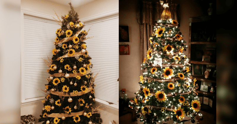 Sunflower Christmas Trees Are The Most Beautiful Holiday