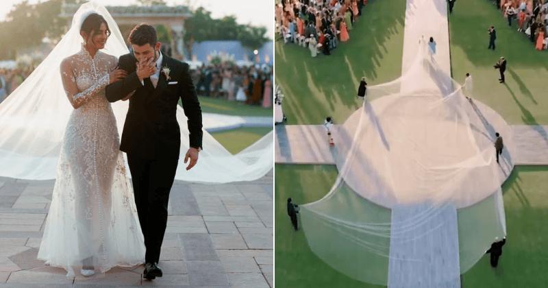 Priyanka Chopra S Exquisite Wedding Dress Had 75 Feet Veil Five