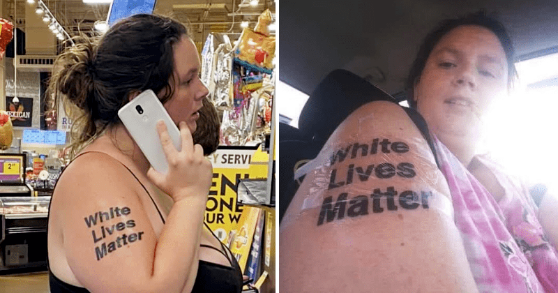 Mcracist Woman Gets Called Out For White Lives Matter Tattoo On Her Arm